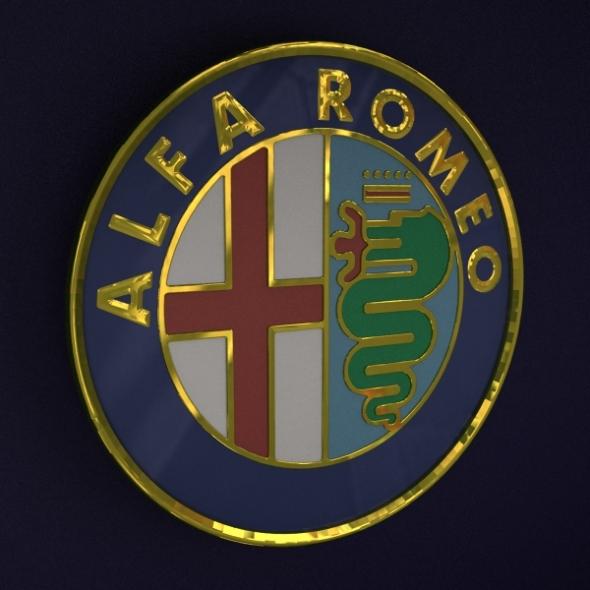 3DOcean Alfa Romeo Logo 232508