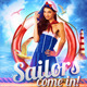 Sailor Party Flyer Template - GraphicRiver Item for Sale