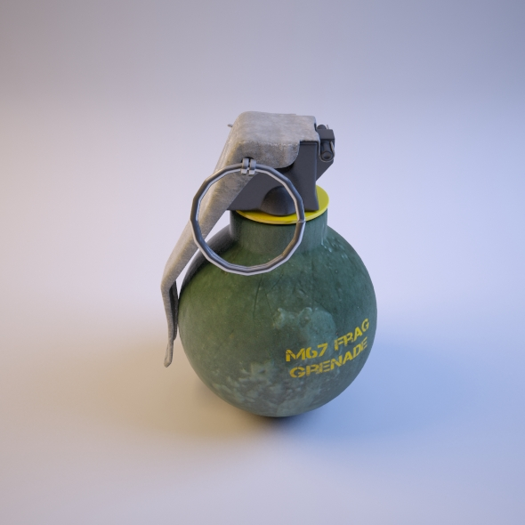3DOcean Hand Grenade M67 Frag Grenade 76670