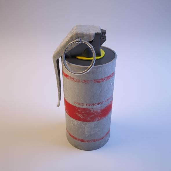 3DOcean Hand Grenade M83 Smoke Grenade 76672