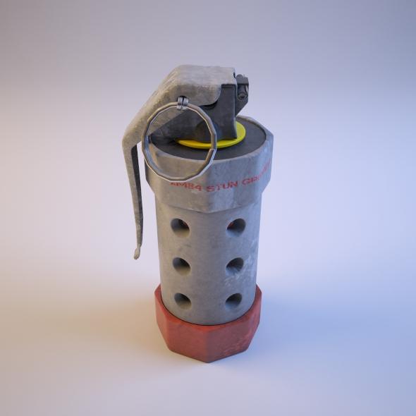 Hand Grenade - XM84 Stun Grenade - 3DOcean Item for Sale