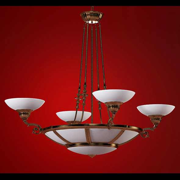High quality 3dmodel of classic chandelier Posson