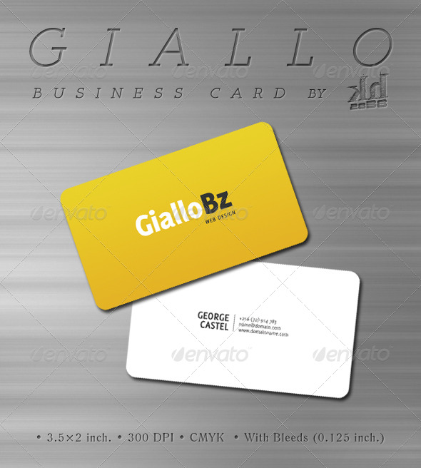 Giallo - Business Card - Corporate Business Cards