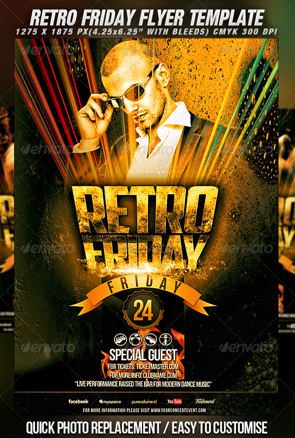 GraphicRiver Retro Friday Flyer Template 1605225