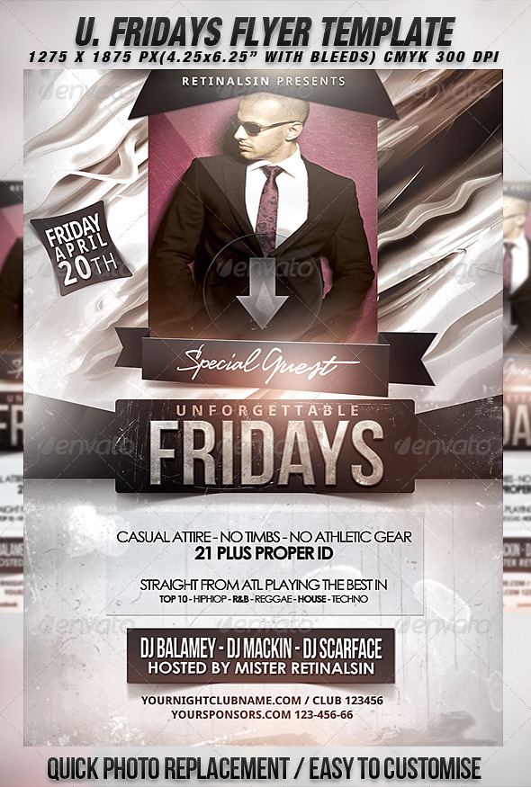 GraphicRiver Unforgettable Fridays Flyer Template 1946686