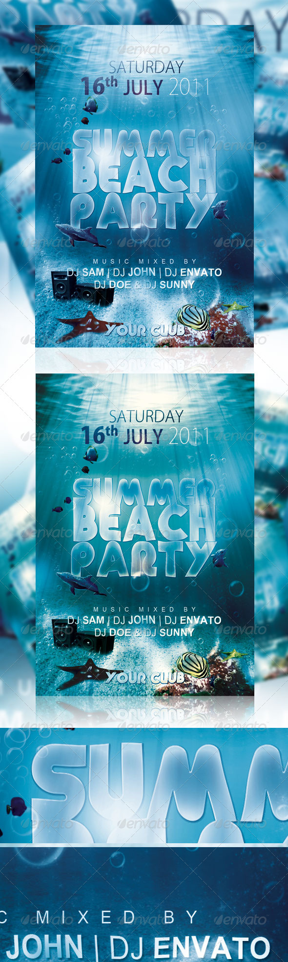 Summer Beach Party Flyer Ver 1 - Clubs & Parties Events