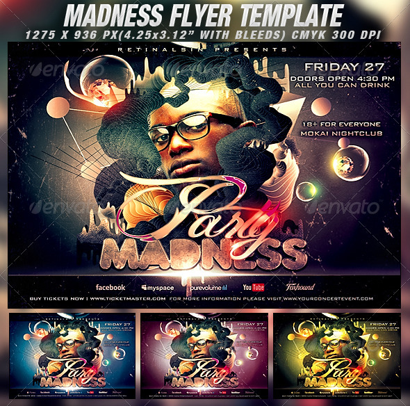 GraphicRiver Party Madness Flyer Template 1382636