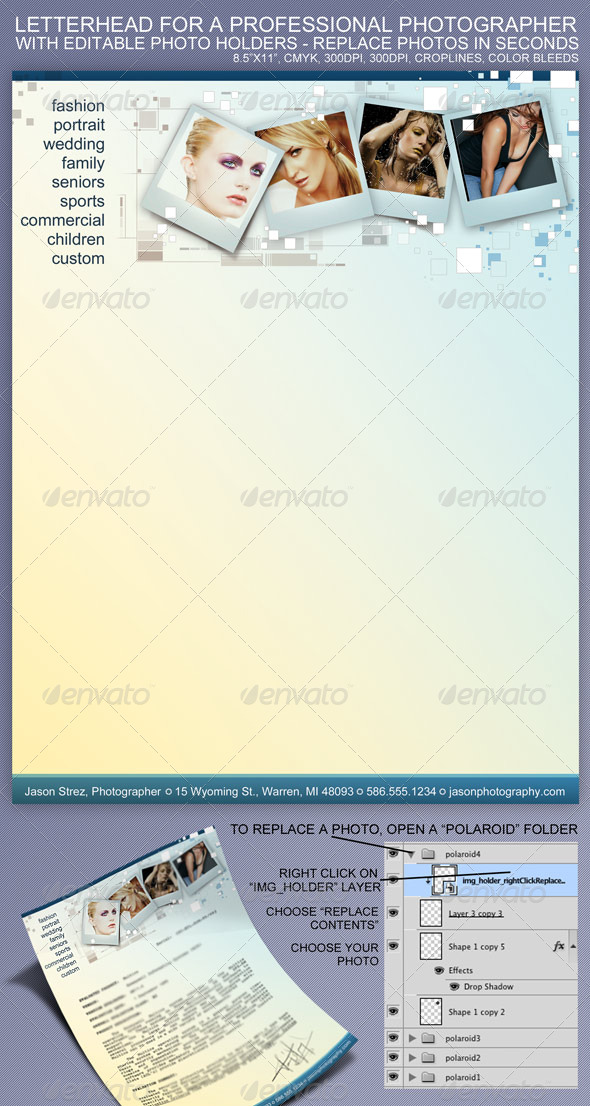GraphicRiver Photo Letterhead 232871