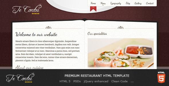 Te Contei Restaurant Template
