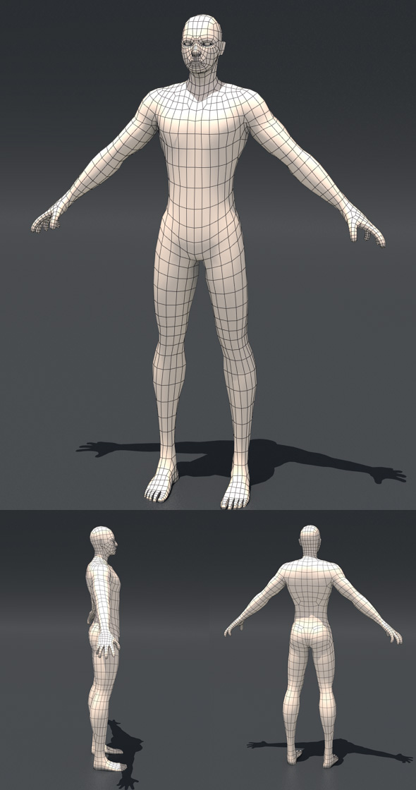 Base Human mesh - 3DOcean Item for Sale
