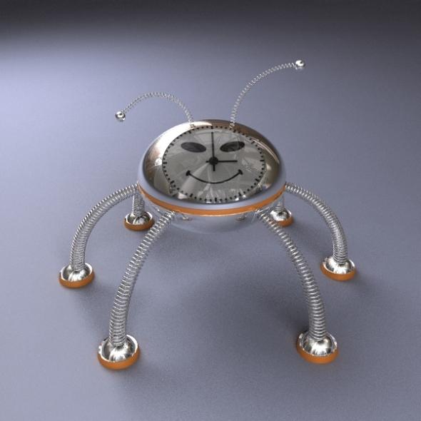 Robot Alarm Clock - 3DOcean Item for Sale