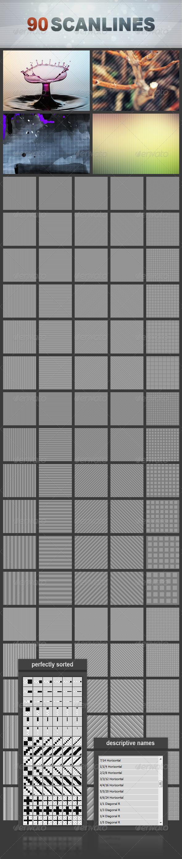 GraphicRiver 90 Scanlines Mega Pack 2003492