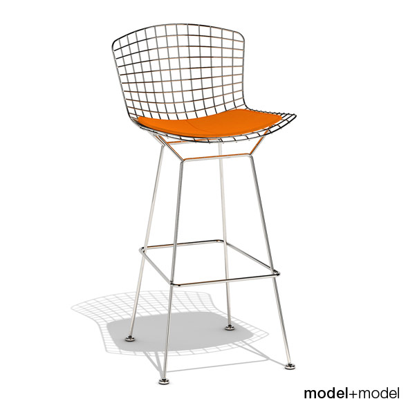 Knoll Bertoia barstool - 3DOcean Item for Sale