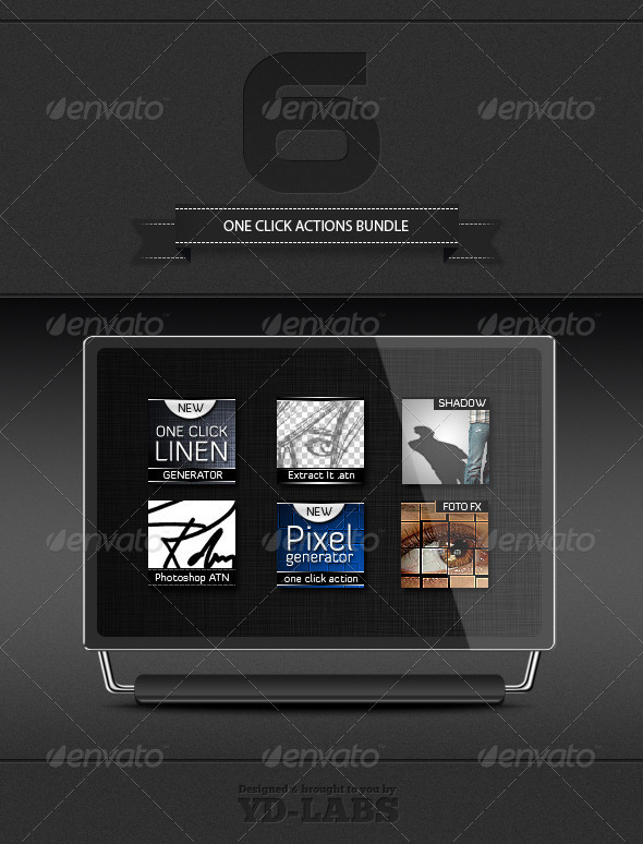 Graphic River One Click Actions Bundle Add-ons -  Photoshop  Actions  Utilities 2003905