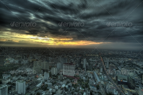 Night View of Bangkok - Stock Photo - Images