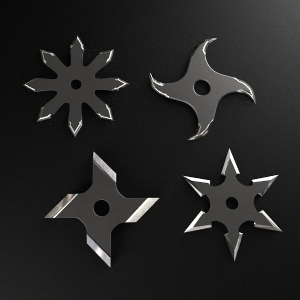 Shuriken Throwing Star - 3DOcean Item for Sale