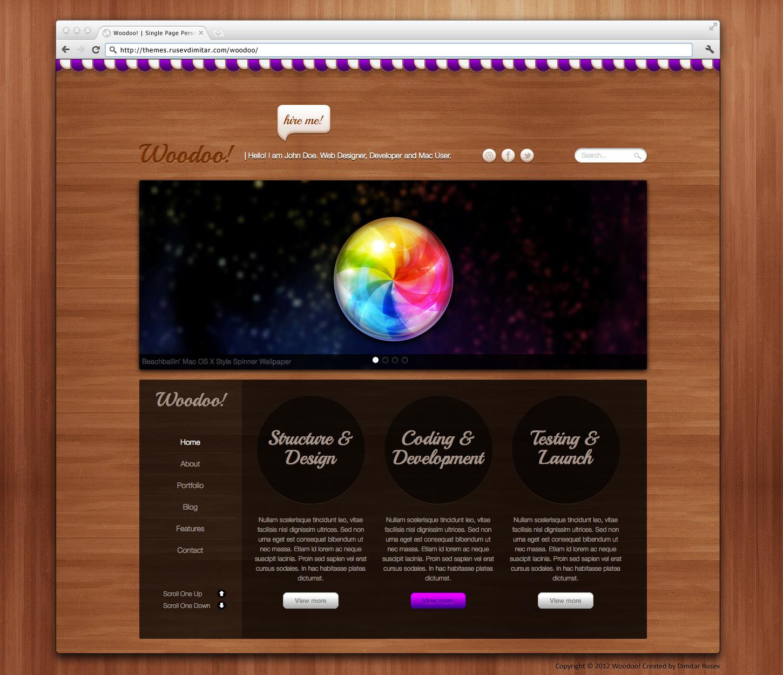 Woodoo - Single Page Portfolio