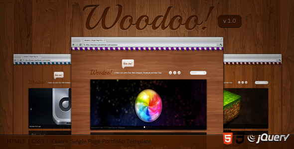 Woodoo - Single Page Portfolio