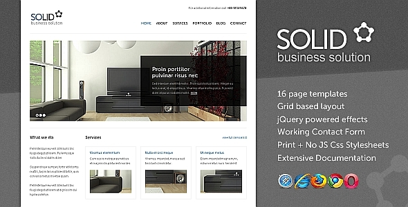 ThemeForest Solid Business Solution HTML CSS Template 233219