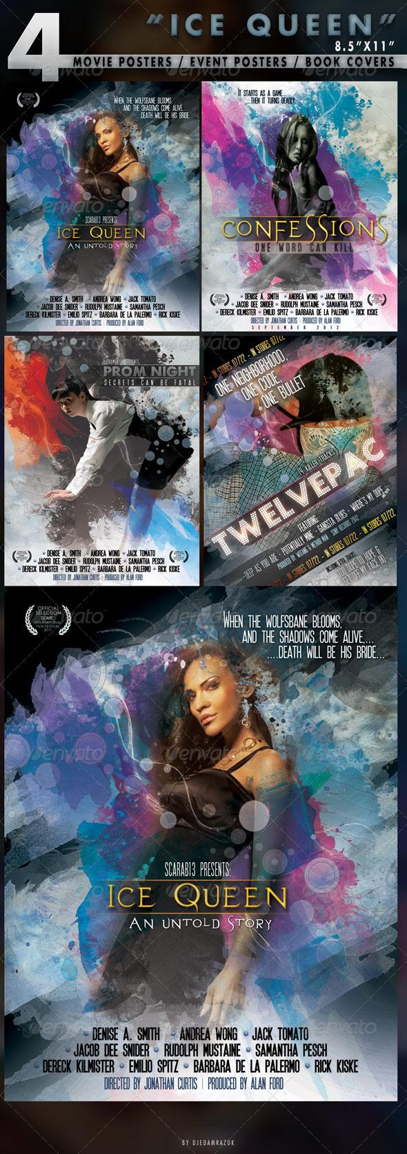 GraphicRiver 4 Poster Designs in 8.5x11 299036