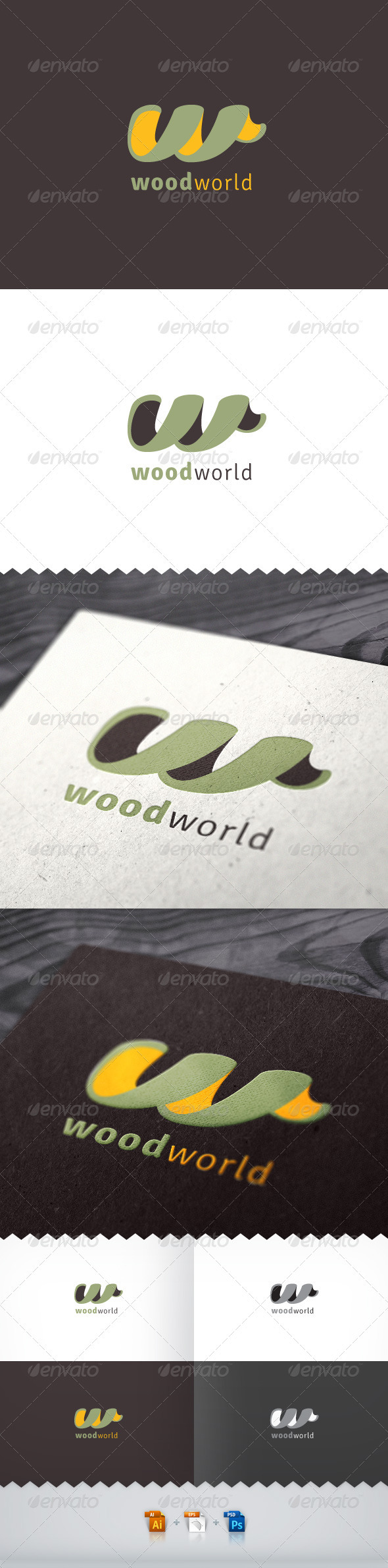 Wood World Logo - Letters Logo Templates