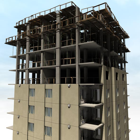 Construction building by alevesque 3docean 3d model sites