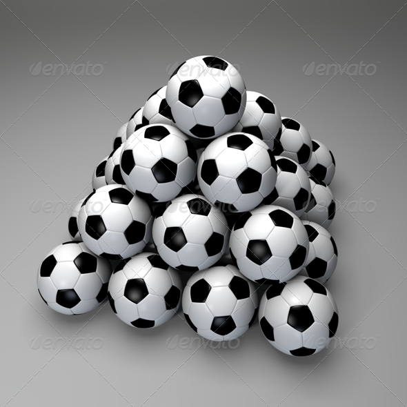 Pyramid of Soccer Balls