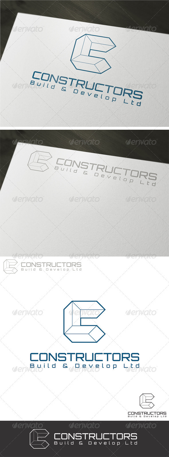 Constructors Logo Template - Vector Abstract