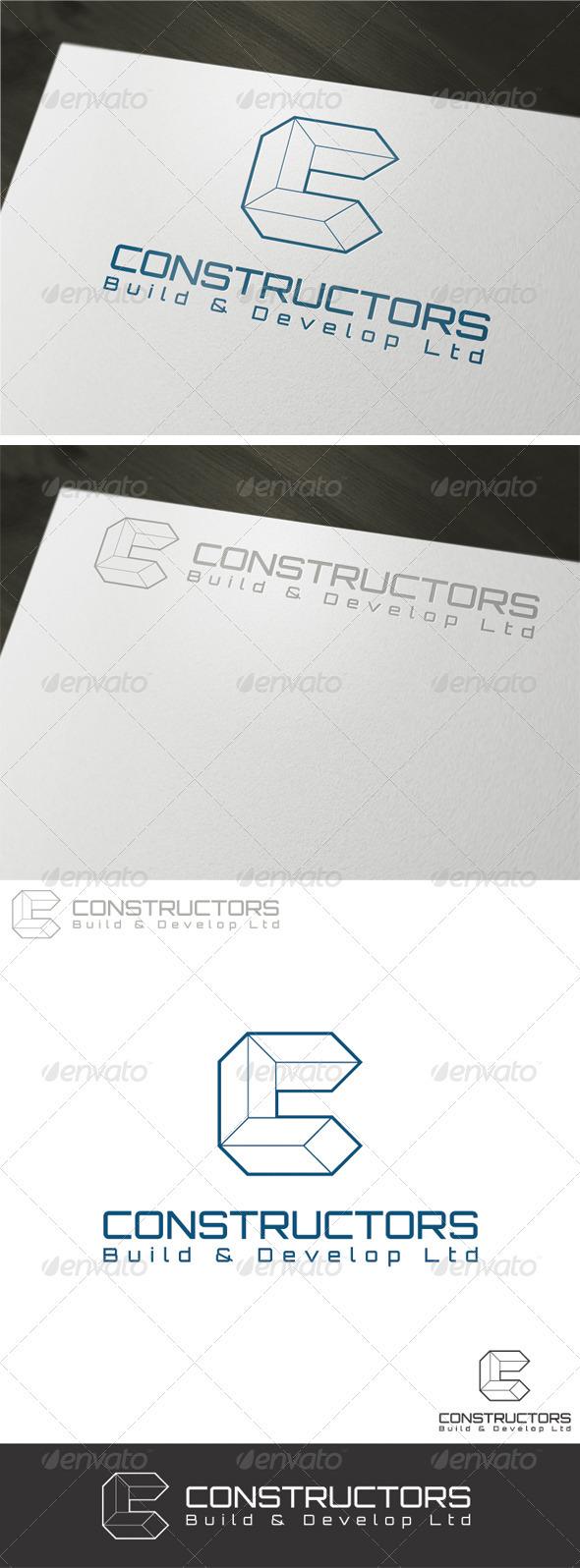 Constructors Logo Template - Vector Abstract