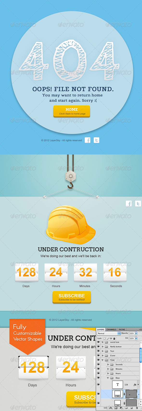 GraphicRiver Sky Error 404 And Under Construction Page 1989368