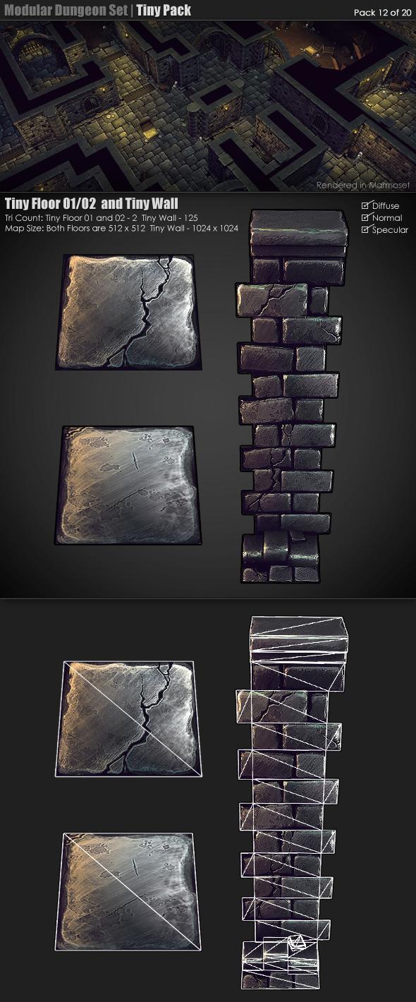 3DOcean Modular Dungeon Set Tiny Pack 12 of 20 233368