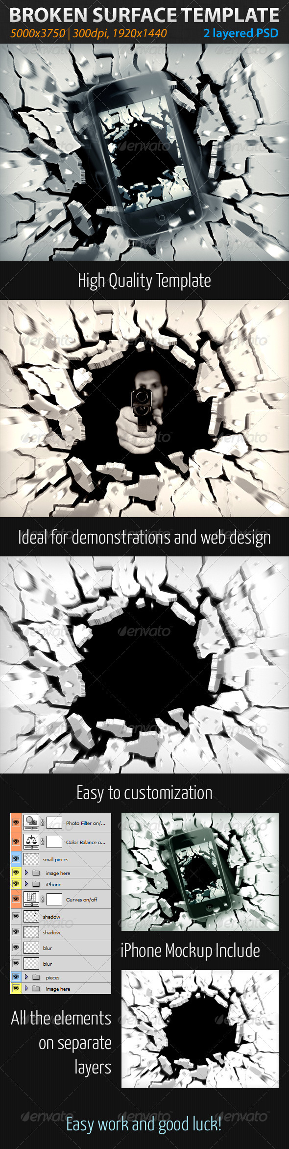 GraphicRiver Broken Surface Template 2005395