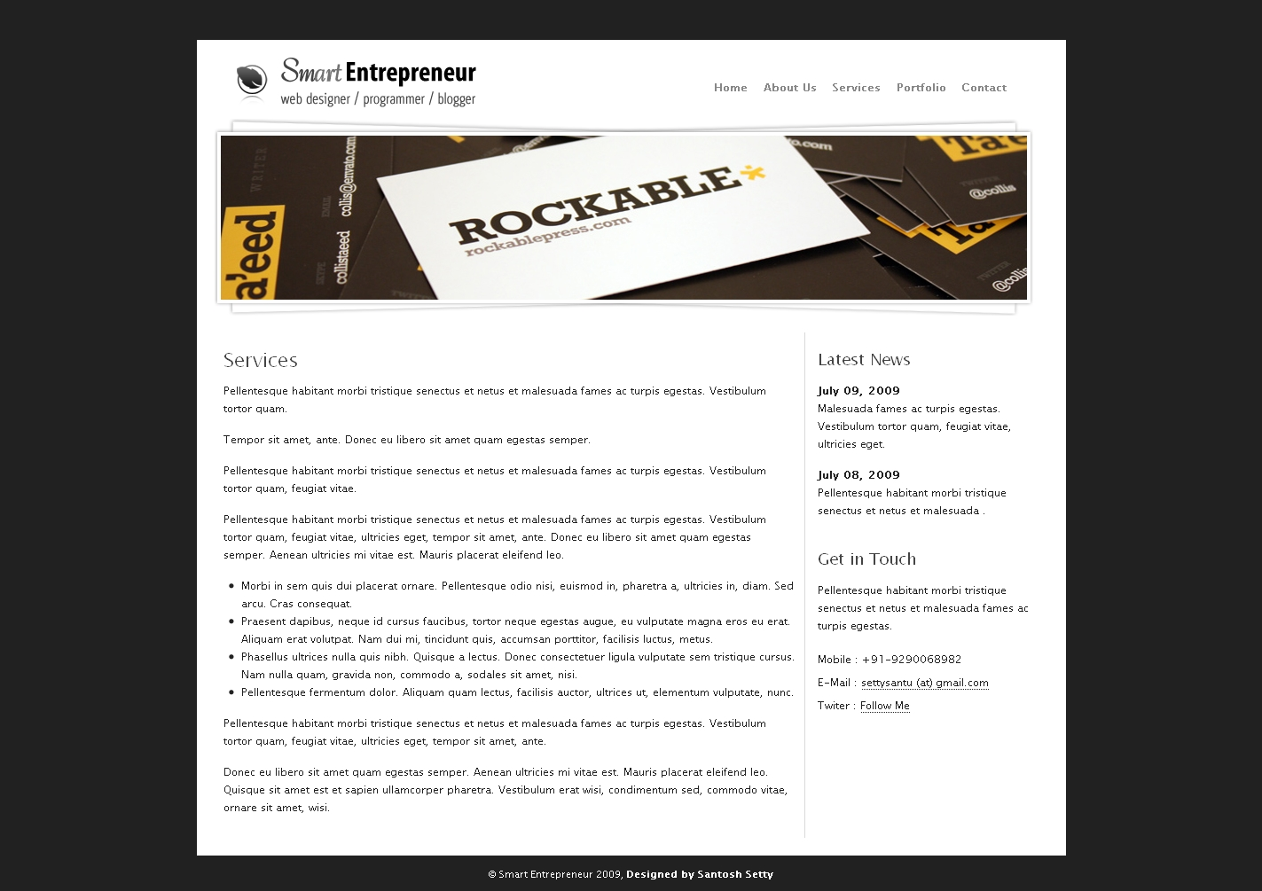 Smart Entrepreneur Drupal 6 Template