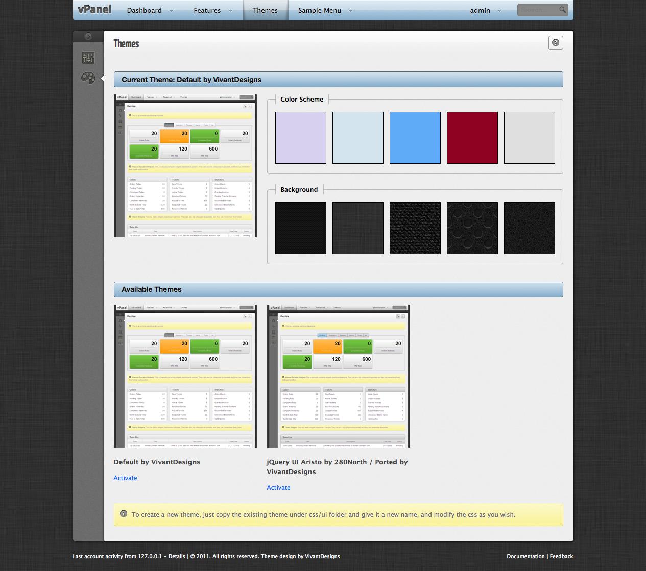 vPanel - Application Framework