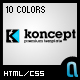 Koncept Business & Portfolio Template - 10 Colors - ThemeForest Item for Sale