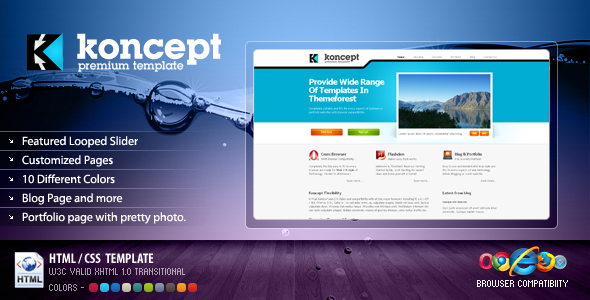 Koncept Business & Portfolio Template - 10 Colors