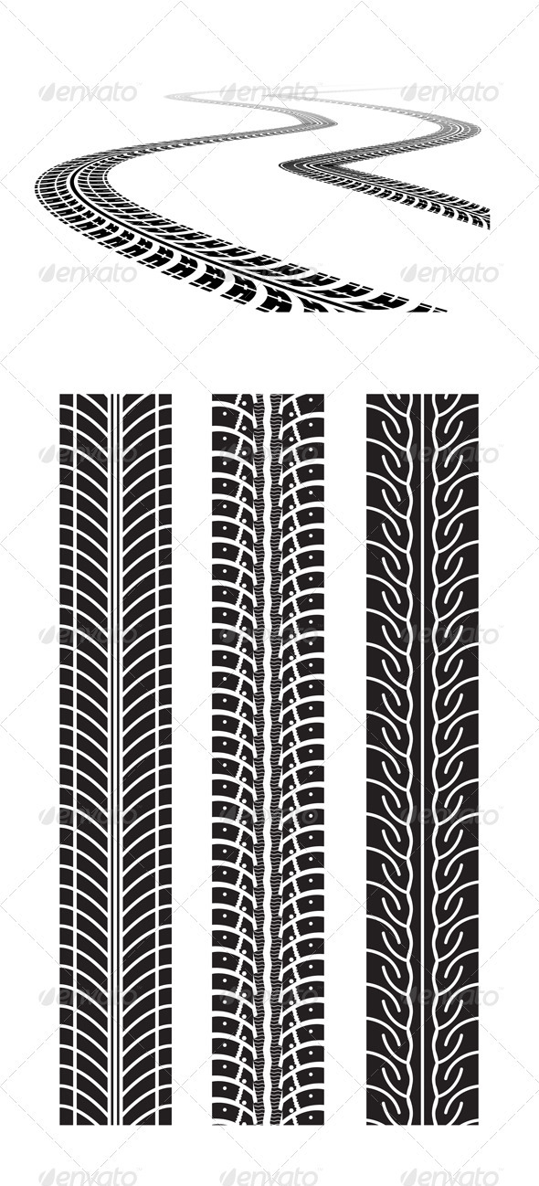 GraphicRiver Road Tires In Perspective View 2008302