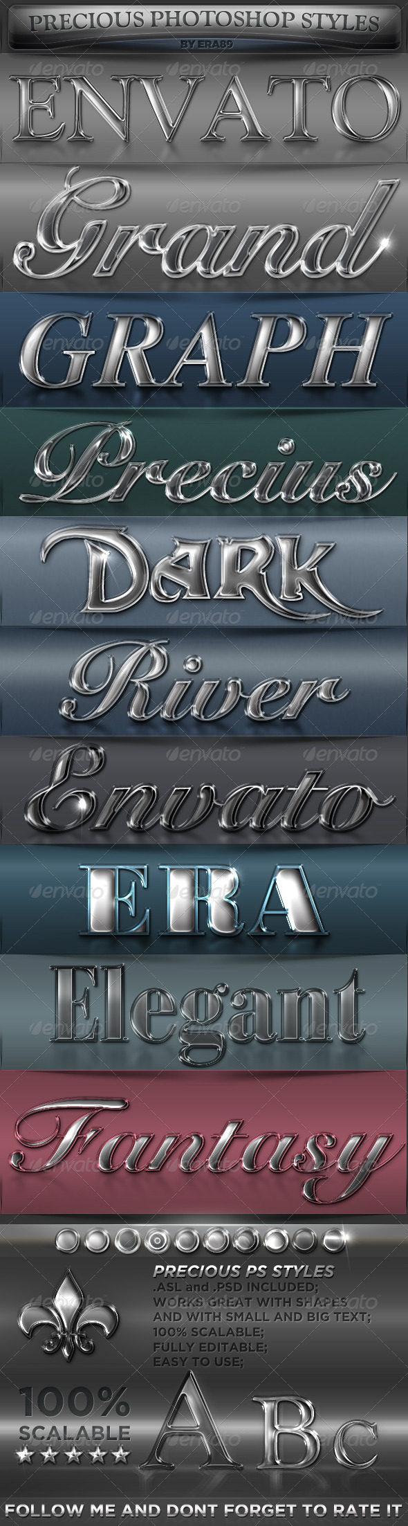Precious Photoshop Styles - Text Effects Styles