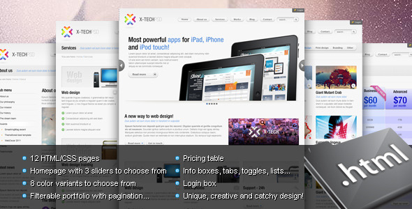 X-Tech Premium HTML/CSS template - Corporate Site Templates
