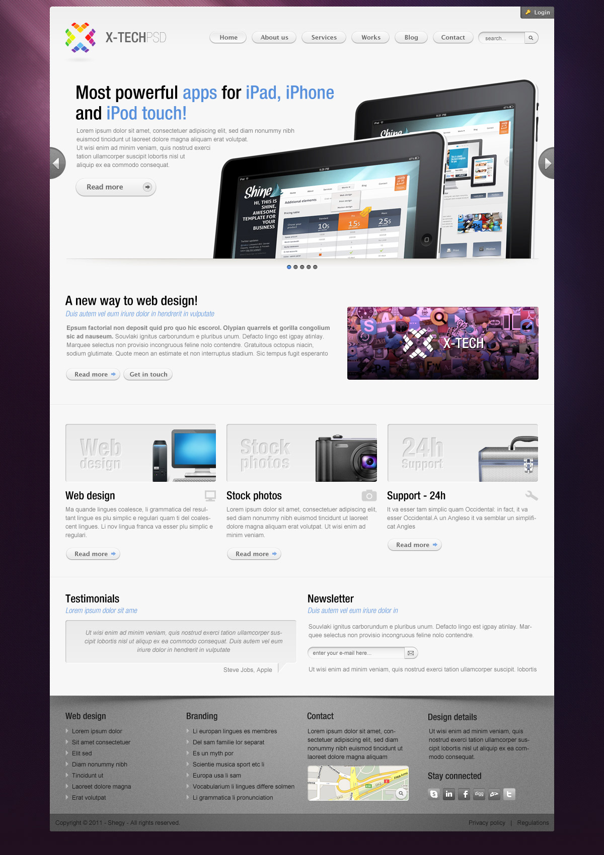 X-Tech Premium HTML/CSS template