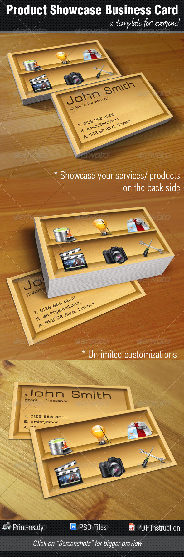 GraphicRiver Product Service Showcase Business Card 233671