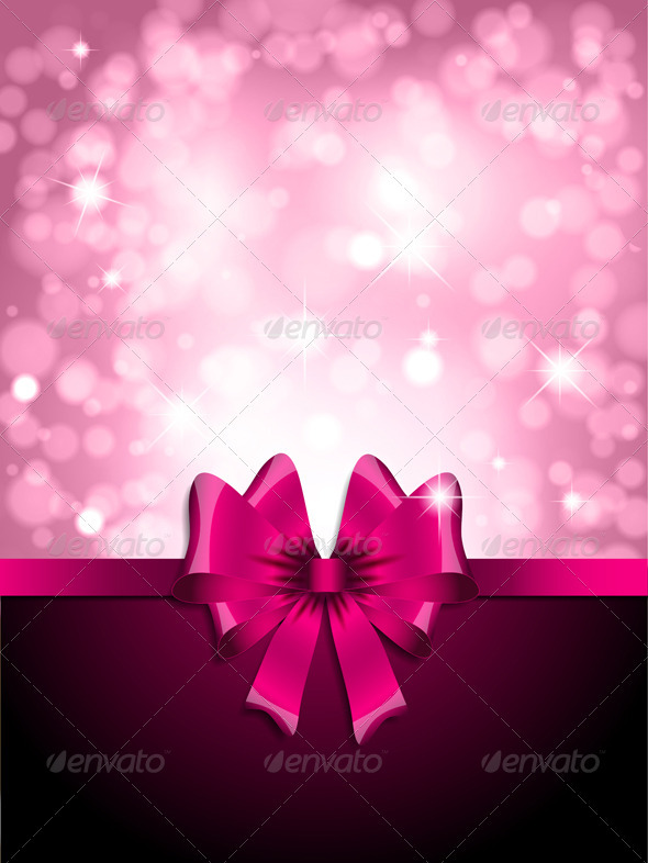 Graphic River Pink bow background Vectors -  Decorative  Backgrounds 2009230