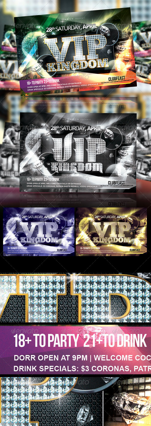 VIP Kingdom Night Party - Events Flyers