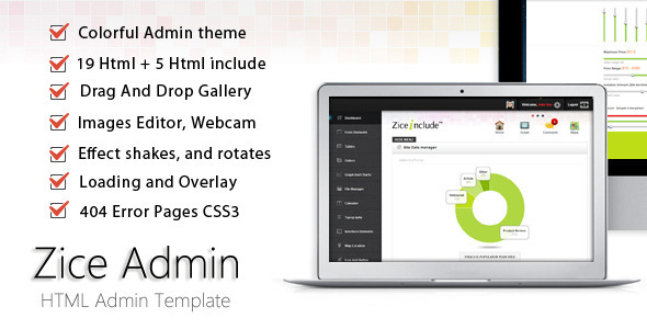 ThemeForest Zice Admin Colorful Admin Templates 1980638