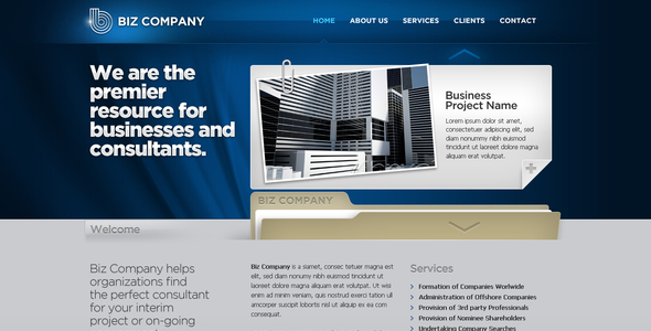 ThemeForest Business Template #08 76791