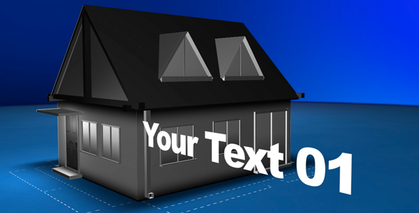 After Effects Project - VideoHive Blueprint project building a house 233750