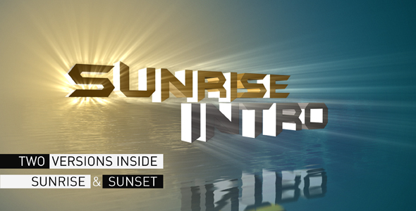 After Effects Project - VideoHive Sunrise Intro 233766