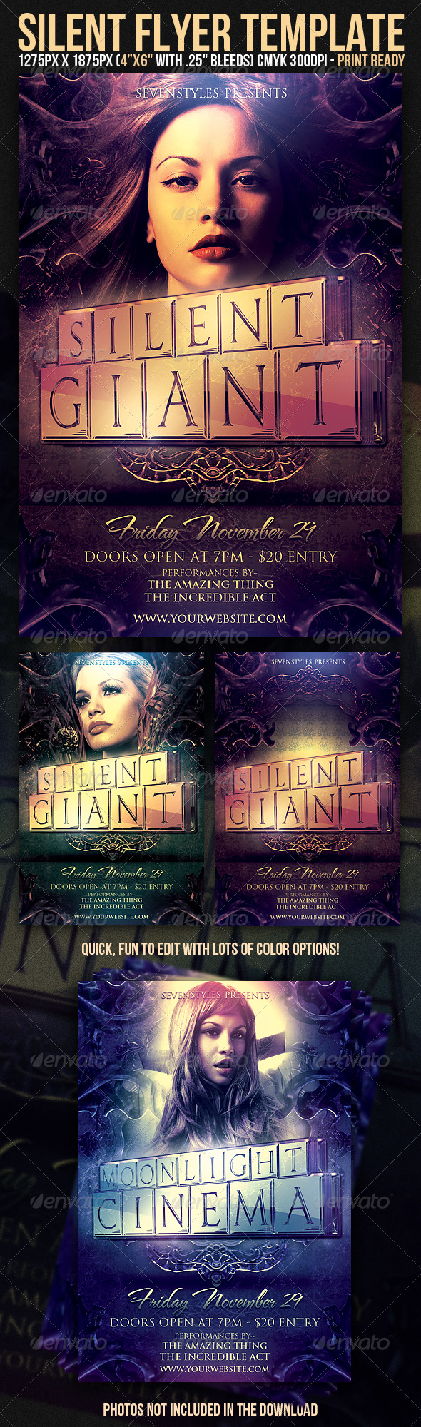 Silent Flyer Template - Clubs & Parties Events