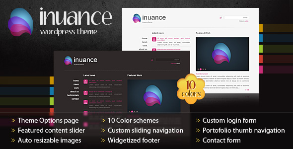 INUANCE - theme preview screenshot