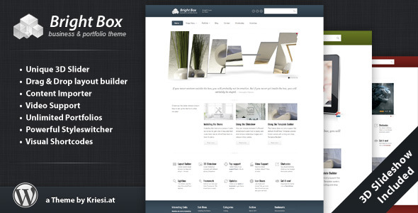 ThemeForest BrightBox Business & Portfolio Wordpress Theme 233917